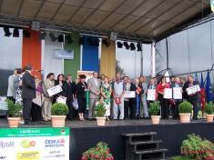 Zástupci oceněných obcí