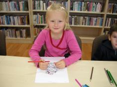 Děti z MŠ Vikýřovice v knihovně